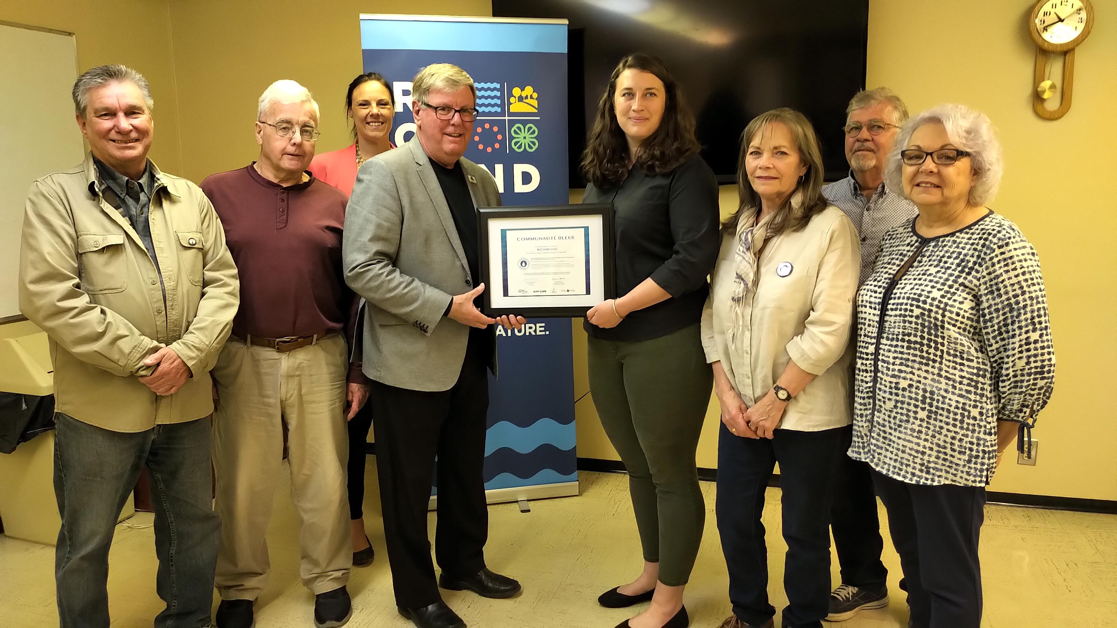 Richmond certifiée «Communauté bleue»
